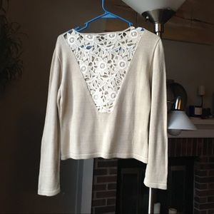 Open lace back ASARTI sweater